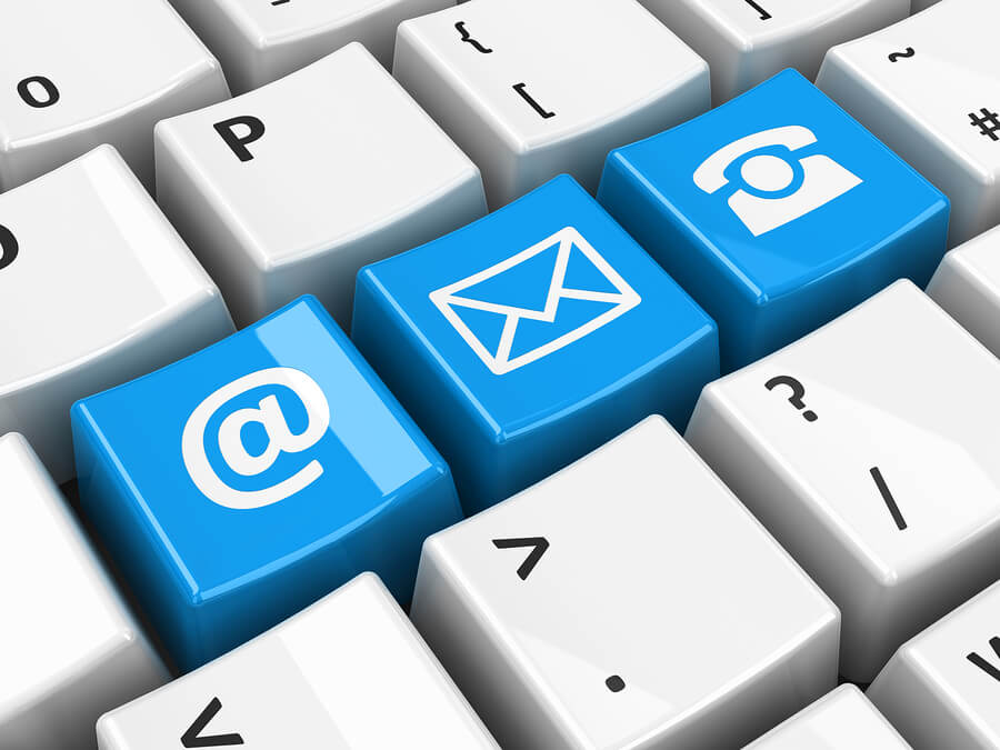 email internet fax icons
