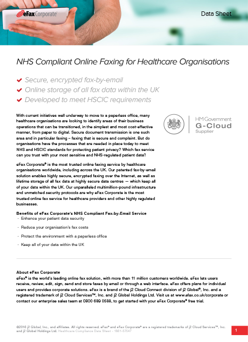 NHS Compliant Faxing for Healthcare Organisations